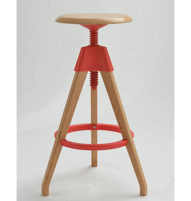 Modern Wooden Barstool Muuto Nerd barstool Colorful Wooden Bar Chair For Dining Room