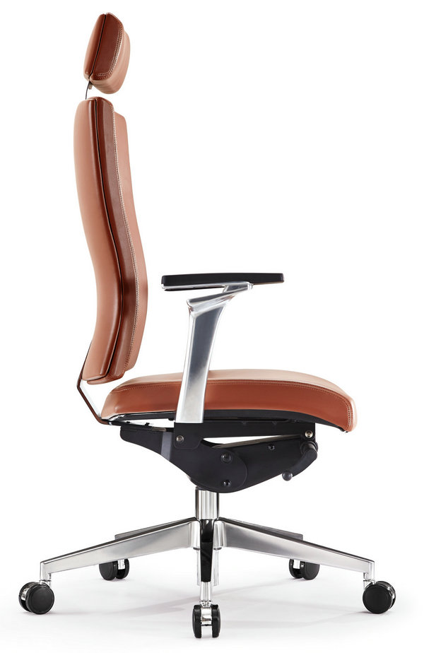 luxury computer office desk chair pu leather swivel adjustable