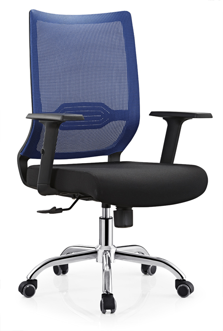 Black mesh swivel office chair with adjustable armrest suit at home and office