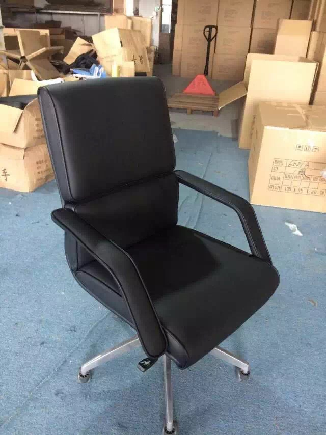 Multi-functional Black Leather Office Chair/Modern Computer Office Furniture/Swivel Chair