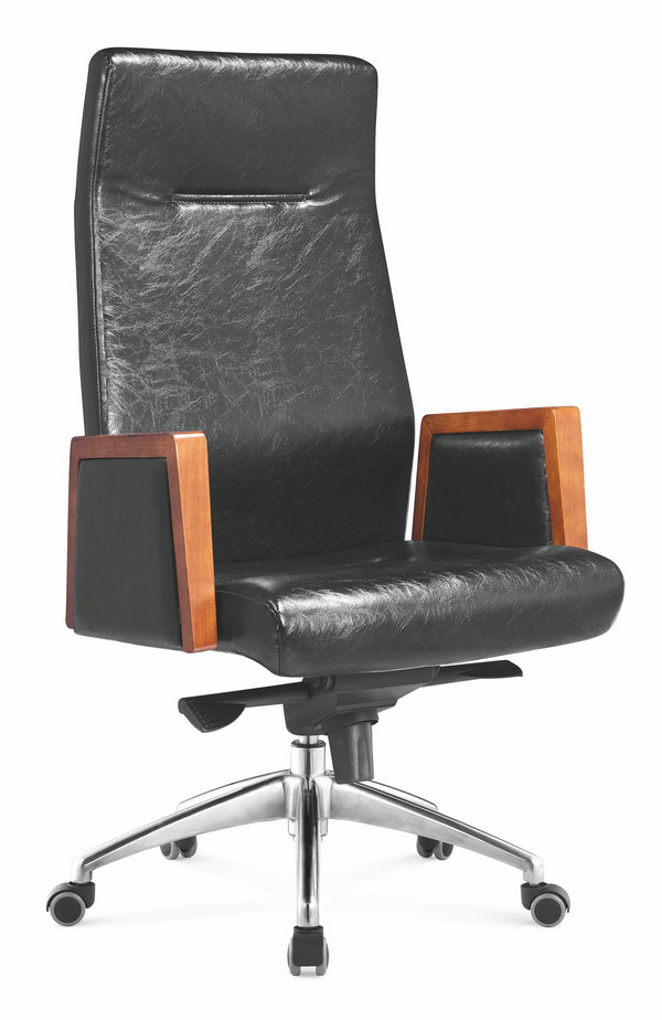 Customized modern luxury colorful adjustable height high back leather executive recliner office chair