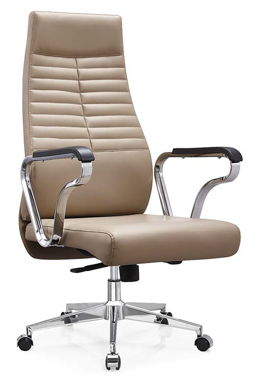 new design modern comfortable ergonomic swivel boss office brown leather recliner chair