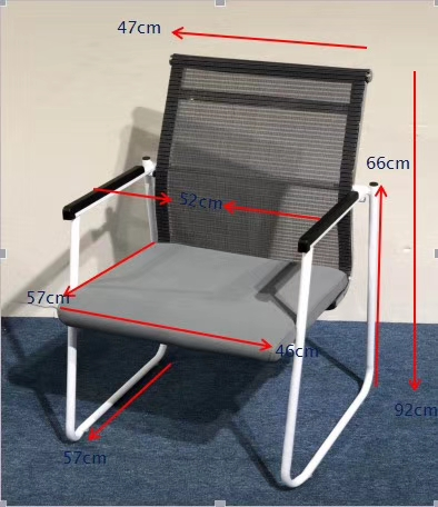 stackable office visitor chair training staff used conference room mesh folding chair