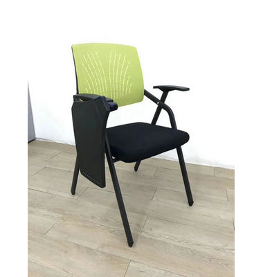 Hot Sale Stackable Conference Folding Office Chair With Writing Pad,Metal Frame Training chair