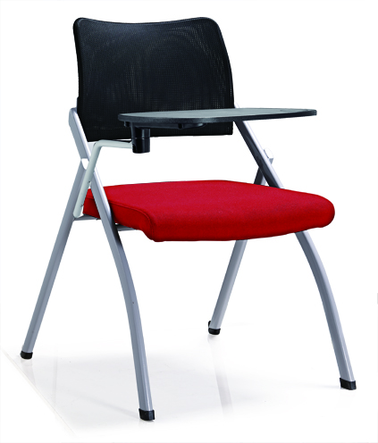 High Quality skate fabric PP Armrest Mesh Conference Training Student Chair with Writing Pad