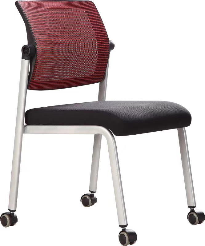 wholesale metal frame fabric student training chair conference training typing office chair