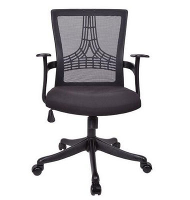 Factory price wholesale black plastic back office desk lift chair with nylon wheels