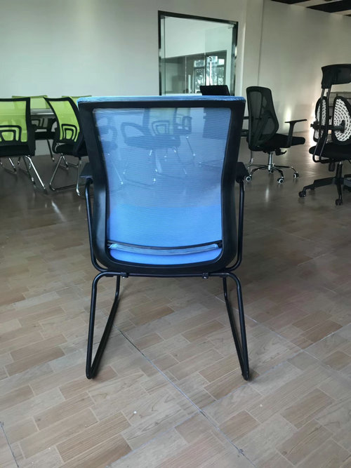 Meeting Hall Chair Armless Office Visitor Chair Modern Stacking Chairs for Conference Room Used