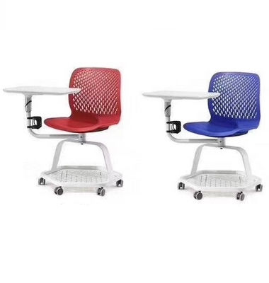 Conference plastic training chair with writing board classroom student chair on wheels school office furniture