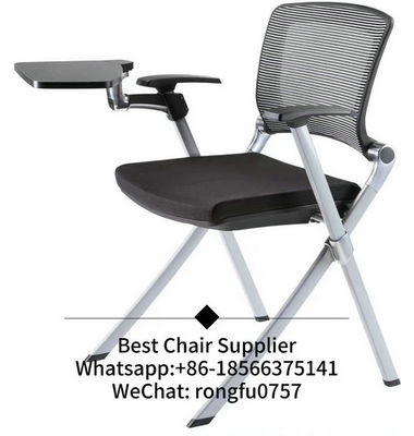 Convenient Office Furniture Supplier Fabric Plastic Stackable Training Chair With Writing Table Events Chairs