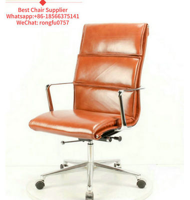 High Grade Soild Wood Back Swivel Leather Ergonomic Office Revolving Manager Executive Reclining Office Chair