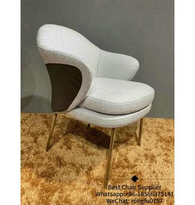 Foshan White Velvet Cheap Upholstered Leisure Accent Chair