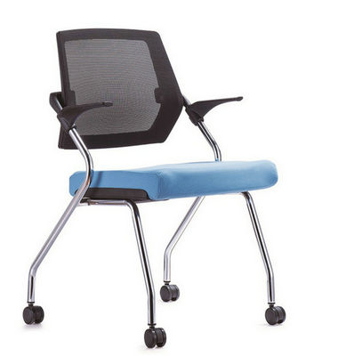 Korea solid office wholesale folding conference chair with armrest