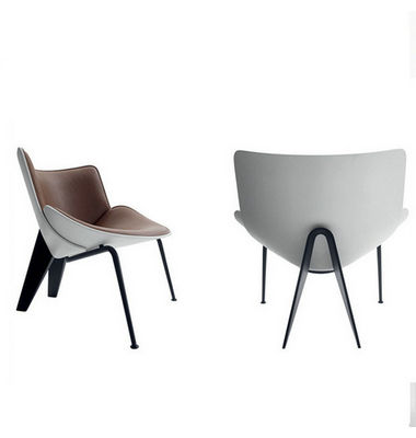 Luxury Upholstered Leather Fiberglass Frame Living Room Italian Designer Modern Do Maru Lounge Chair