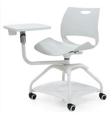 conference room training chair with writing pad tablet and universal wheels