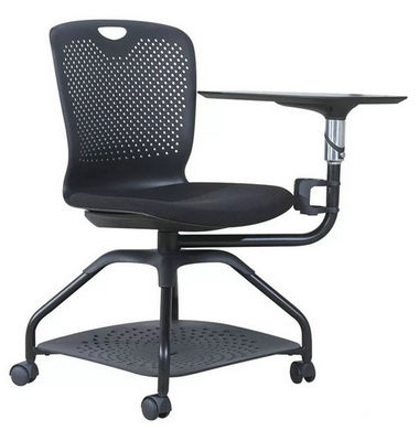 hot selling conference room training chair with writing pad tablet and universal wheels