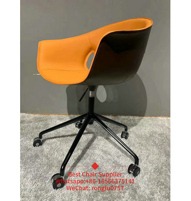 HUSK CHAIR metal leg movable Modern Plastic chair office furniture
