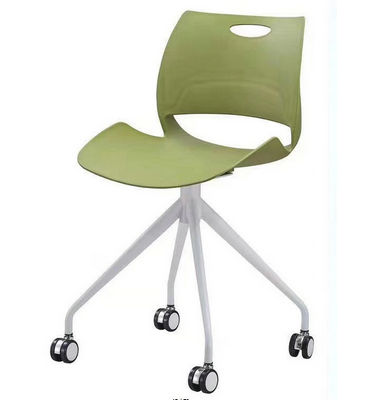 polypropylene plastic reading chair with wheels restaurant dinning chair
