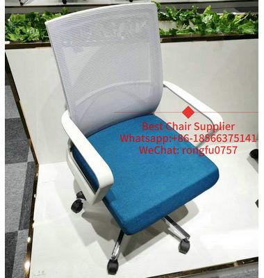 Foshan Modern White Swivel Mesh Staff Office Chair