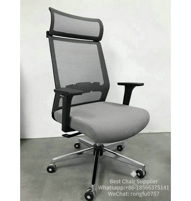 Headrest Height and Angle Ajustable Comfortable Ergonomic Mesh Executive High-Back Office Chair for Sale