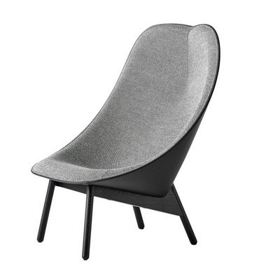 Nordic design high back wing chair Uchiwa lounge chair