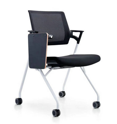 Folding Chair With Wheels Easy Moving Store Training Negotiated Office Mesh Chair