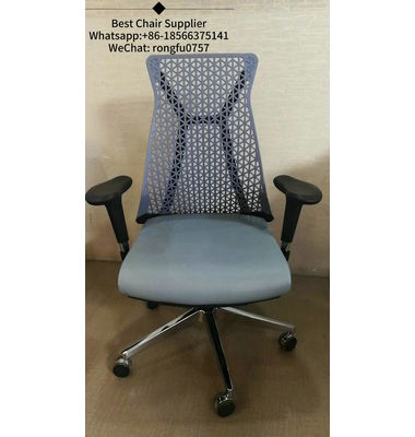 Durability black adjustable armrests Tilt mechanism original mesh office chair