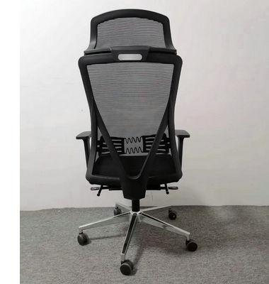 CIFF hot- selling new design high back swivel ergonomic chair with black nylon back frame