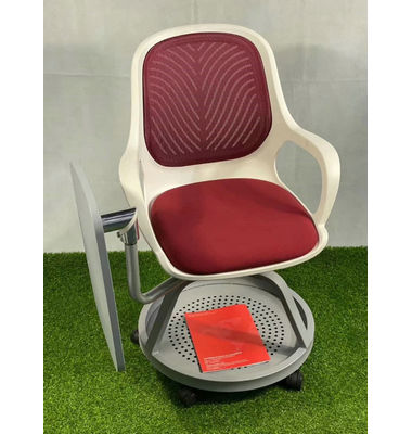 conference seminar training room chair plastic back folding training chair with book tray