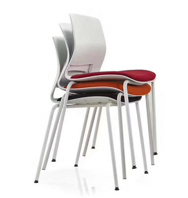 Colorful office chair furniture modern PP plastic dining chairs with stackable function