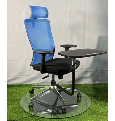 Comfortable Office Furniture Moving mesh Conference Chair With Writing Tablet